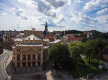 Aerial View to theatre in Altenburg Thuringia Stock Photos