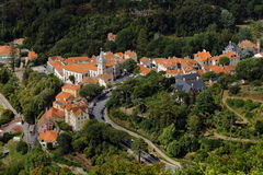 Aerial view to the Town Hall of Sintra, Portugal Stock Image
