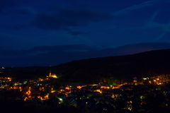 Aerial view to village Andlau in France Royalty Free Stock Image