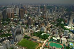Aerial view of Tokyo Stock Images