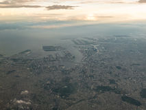 Aerial view of Tokyo Bay Royalty Free Stock Photography