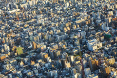 Aerial View of the Tokyo City, Japan Royalty Free Stock Photo