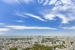 Aerial View of the Tokyo City, Japan Stock Photography