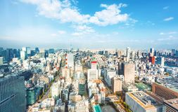 Aerial view of Tokyo, Japan Stock Photography