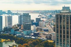 Aerial view of Tokyo, Japan Royalty Free Stock Photography