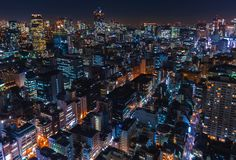 Aerial view of Tokyo, Japan Royalty Free Stock Image