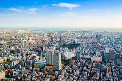 Aerial view of Tokyo, Japan Stock Photos