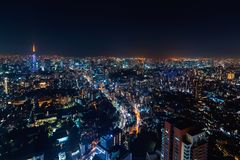Aerial view of Tokyo, Japan Stock Photos