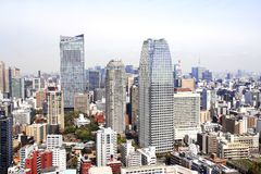 Aerial view on Tokyo, Japan stock images