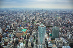 Aerial view for Tokyo metropolis, Japan Stock Photography
