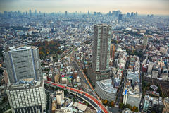 Aerial view for Tokyo metropolis, Japan Royalty Free Stock Images