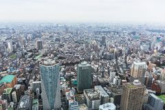 Aerial view for Tokyo metropolis Stock Photography