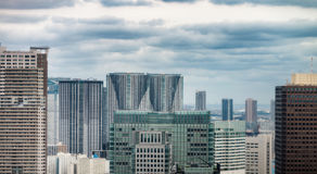 Aerial view of Tokyo skyscrapers. City skyline, business concept.  Royalty Free Stock Photography