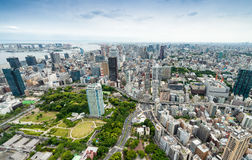 Aerial view of Tokyo skyscrapers. City skyline, business concept.  Royalty Free Stock Photo