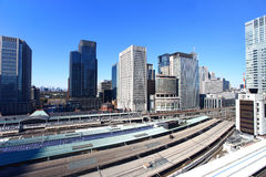 Aerial view of Tokyo Station Stock Photo