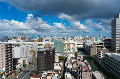 Aerial view of Tokyo suburb Royalty Free Stock Photography