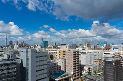 Aerial view of Tokyo suburb Royalty Free Stock Photo