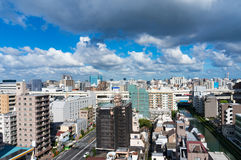 Aerial view of Tokyo suburb Stock Photo