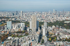 Aerial view Tokyo Tower cityscape Japan Royalty Free Stock Image