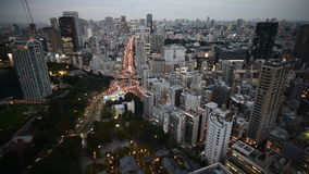Aerial view from Tokyo Tower stock video footage