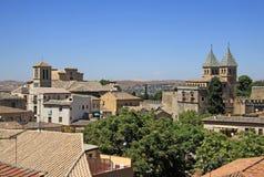 Aerial view of Toledo. The Puerta de Bisagra Nueva (The New Bisagra Gate) Stock Images
