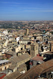 Aerial view of Toledo, Spain. Roofs of the old city Stock Photography