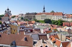 Aerial view of Toompea & x28;Upper city& x29; of Tallinn Royalty Free Stock Photography