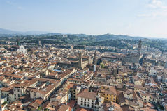 Aerial View from top of Duomo Stock Image