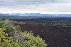 Aerial view from the top of the Inferno Cone. View over the lava fields from the top of Inferno Cone at Craters of the Moon National Monument and Preserve, Arco Royalty Free Stock Photos