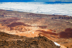 Aerial view from the top of mount Teide Royalty Free Stock Photography
