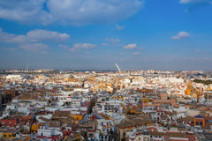 Aerial view from the top of Seville Cathedral, Spain. Stock Images