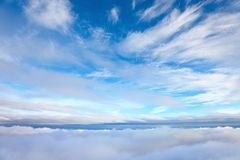 View from above clouds Stock Image