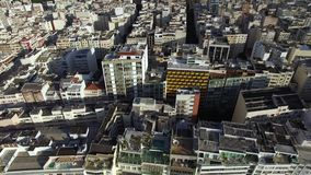 Aerial view and top view of buildings and city streets. Rio de Janeiro city , Brazil. Aerial view and top view of buildings and city streets. Rio de Janeiro stock footage