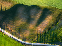 Aerial view from top view. tuscany. Italy Stock Photo