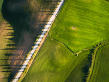 Aerial view from top view. tuscany. Italy Royalty Free Stock Images