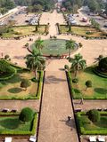 Aerial view Top view of Vientiane from Patuxai Monument stock photos