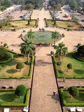 Aerial view (Top view) of Vientiane from Patuxai Monument stock photography