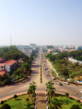 Aerial view Top view of Vientiane royalty free stock photos