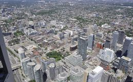 Toronto Aerial View from the Canadian National Tower. Aerial View of Toronto City from Ontario province in Canada on 24th June 2017 Stock Photo