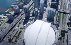 Aerial View of Toronto in Ontario Stock Photography