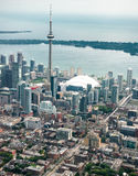 Aerial view of the Toronto skyline Stock Photography