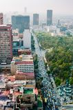 Aerial view of Torre Latinoamericana to Mexico City downtown royalty free stock photography