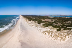 Aerial view of Torreira beach Stock Image
