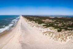 Aerial view of Torreira beach Stock Image