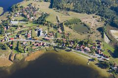 Aerial view of tourist resort Stock Image