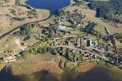 Aerial view of tourist resort Royalty Free Stock Image