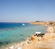 Aerial view of touristic seaside in Sharm el-Sheikh Royalty Free Stock Photo