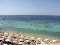 Aerial view of touristic seaside in Sharm el-Sheikh Stock Photography