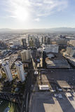 Aerial View towards the Las Vegas Strip Stock Images