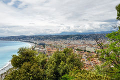 Aerial view towards the Nice, France Stock Photos